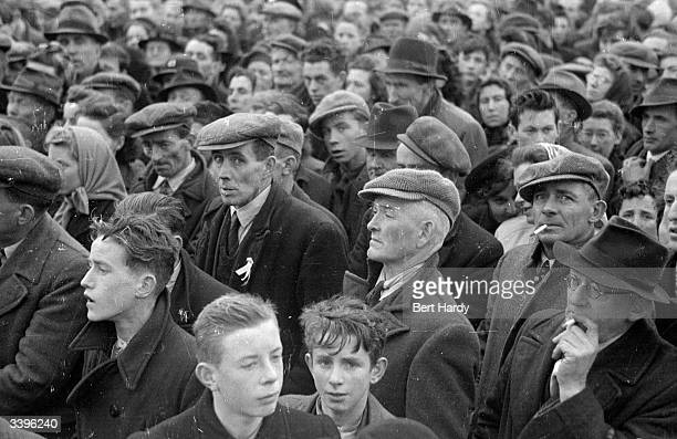 Crowds listen to speakers at hustings for the Irish elections of 1948 Original Publication Picture Post 4511 Eire Takes Hobson's Choice pub1948
