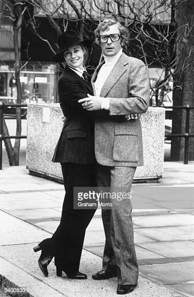 American film actress Cybill Shepherd teams up with British film star Michael Caine in London for the filming of 'Silver Bears'