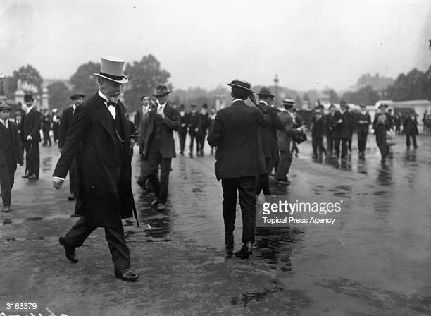 Right Honourable J W Lowther the Speaker of the House of Commons attending the Home Rule Conference in Buckingham Palace London