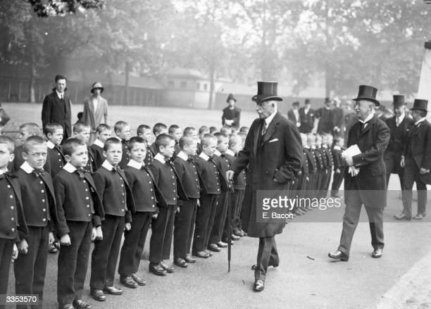 The Duke of Connaught inspects the boys at Foundling Hospital