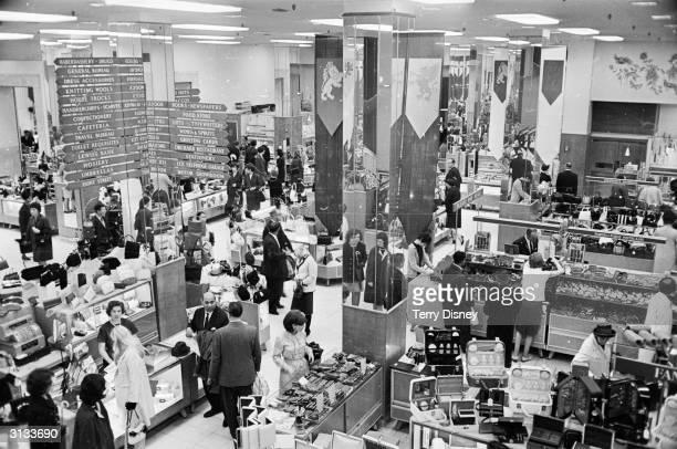 The shop floor of Selfridges, the famous London department store.