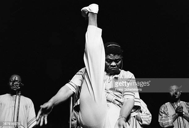 South African vocal group Ladysmith Black Mambazo perform live on stage at the Doelen in Rotterdam the Netherlands on 21th July 1987