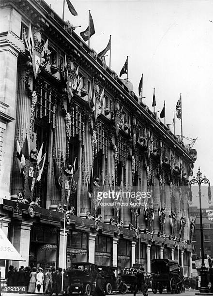 Selfridges store, London, decorated for the coronation of George V.