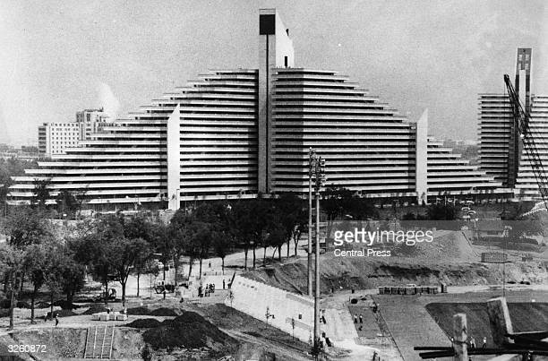 A view of the living quarters designed for the athletes at the 1976 Montreal Olympics which were widely criticised for not allowing sufficient...