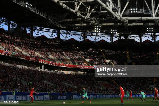 21st June 2017 FIFA Confederations Cup Russia v Portugal A general view of sunshine beating down in the Otkrytiye Arena in Moscow