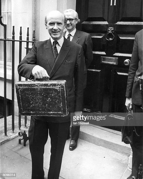 Anthony Barber Britain's Chancellor of the Exchequer leaves Number 11 Downing Street with the budget box which he will present to the House of Commons