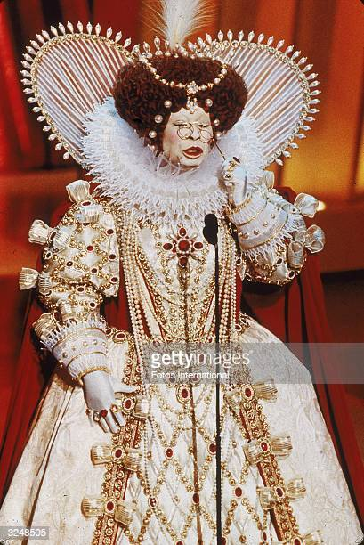 American actor and comedian Whoopi Goldberg delivers her opening monologue dressed as Queen Elizabeth I while hosting the 71st Annual Academy Awards...