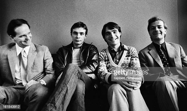 21st MARCH: German group Kraftwerk posed in Rotterdam, Netherlands on 21st March 1976. L-R Florian Schneider, Karl Bartos, Wolfgang Flur and Ralf...