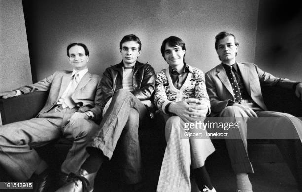 German group Kraftwerk posed in Rotterdam Netherlands on 21st March 1976 LR Florian Schneider Karl Bartos Wolfgang Flur and Ralf Hutter