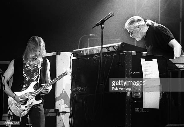 Steve Morse and Jon Lord from Deep Purple perform live on stage at Ahoy in Rotterdam Netherlands on 21st March 1996