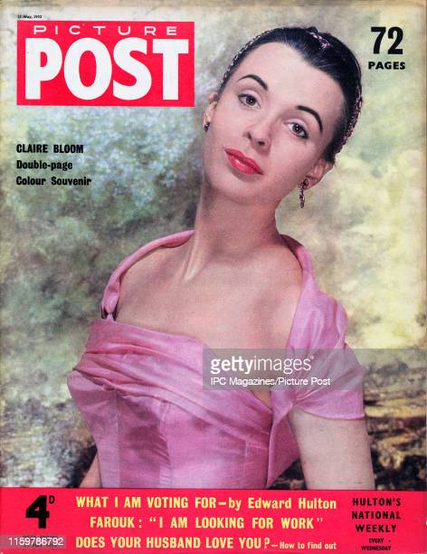 English film and stage actress Claire Bloom is featured for the cover of Picture Post magazine Original Publication Picture Post Cover Vol 67 No 08...