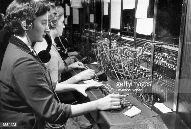 Women operate the telephone switchboard in Hull Hull has the only surviving municipal telephone system from those set up in Britain around 1935 Cheap...