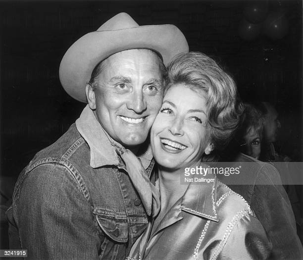 American actor Kirk Douglas and his wife Anne at the eighth annual Share Inc 'Boomtown Party' where sizable funds were raised for the 'Exceptional...