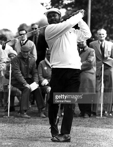 S Sevigolum the South African golfer in play during the Agfacolor Film Golf Tournament at Stoke Poges Golf Club in Buckinghamshire