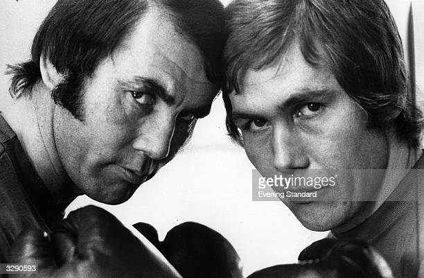 Middleweight boxer and 1968 Olympic gold medalist Chris Finnegan with his brother Kevin Finnegan