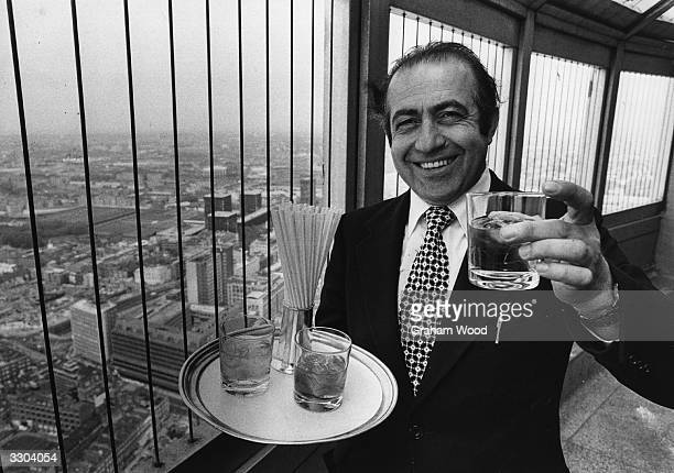 Philip Gorgiov the supervisor of 'The Top Of The Tower Restaurant' in the Post Office Tower London