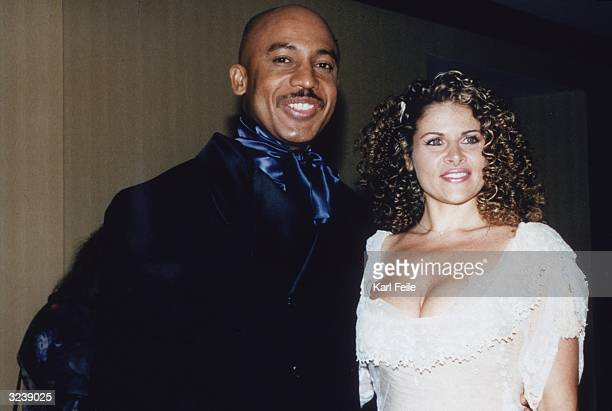 American talk show host Montel Williams smiles next to his wife Grace Morley at the 24th Annual Daytime Emmy Awards Radio City Music Hall New York...