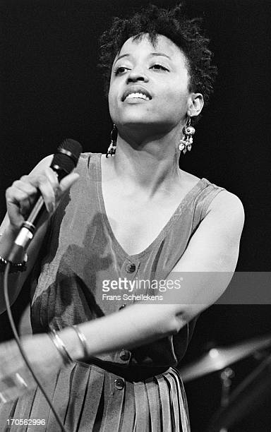 21st MAY: American singer Cassandra Wilson performs at the BIM Huis in Amsterdam, Netherlands on 21st May 1988.