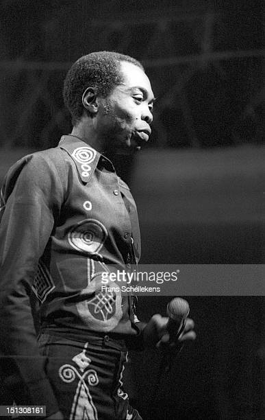 Nigerian musician Fela Kuti performs live on stage at the Parkzicht in Rotterdam Netherlands on 21st November 1986