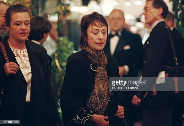 The Dinner At Fouquet'S 21ème Nuit des César 1996 arrivée d'Annie GIRARDOT meilleur second rôle féminin pour 'Les misérables' et sa fille Giulia...
