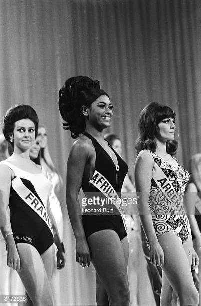 Miss Africa South 20 year old Pearl Gladys Jansen pictured during the swimwear parade for the Miss World contest in London Unfortunately for Pearl...