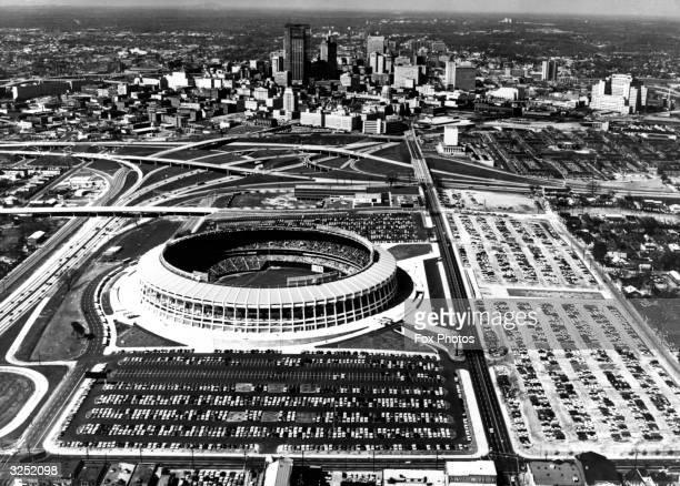 Atlanta state capital of Georgia Atlanta Stadium is in the foreground