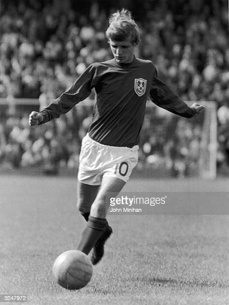 Footballer Eamon Dunphy during his time with Millwall FC.
