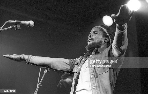 21st OCTOBER: Jamaican reggae singer Pablo Moses performs live on stage at the Melkweg in Amsterdam, Netherlands on 21st October 1986.