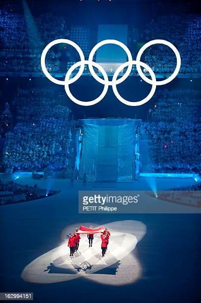 21St Olympic Winter Games In Vancouver 2010. La cérémonie d'ouverture des 21ème jeux olympiques d'hiver au BC Place Stadium de Vancouver : arrivée du...