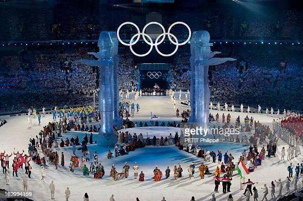 21St Olympic Winter Games In Vancouver 2010. La cérémonie d'ouverture des 21ème jeux olympiques d'hiver au BC Place Stadium de Vancouver : un des...
