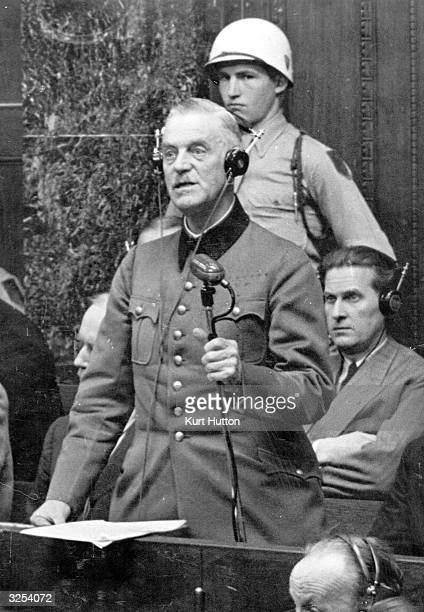 German officer and Chief of the High Command Wilhelm Keitel at the Nuremberg War Crimes Trials Original Publication Picture Post 4200 The Greatest...