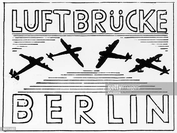 A remembrance stamp for the Berlin Airlift issued in all post offices of the Western sectors of Berlin