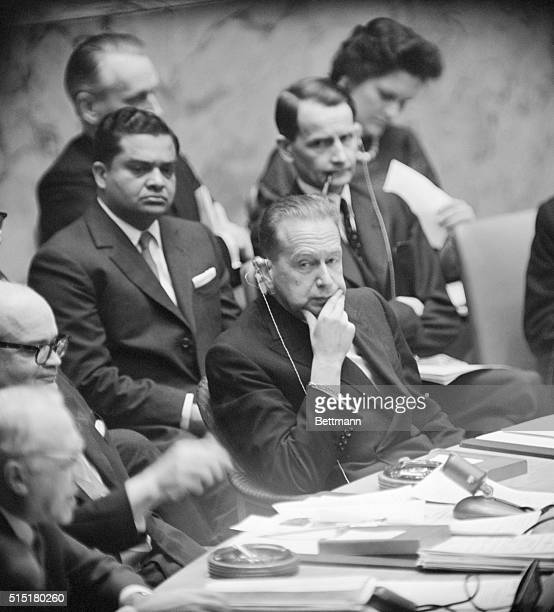 New York, NY: United Nations Meeting. Six followers of slain Patrice Lumumba were executed after their deportation by Congo President Kasavubu into...