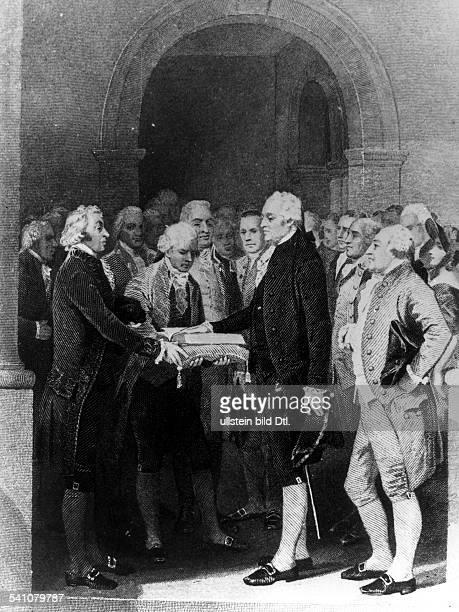 *2202173214121799Politiker USA1 Präsident der USA 17891797Die Inauguration Washingtons inNew York 1789Zeitgenössische Darstellung