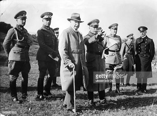 Offizier, Politiker, DManöver der Reichswehr in Kissingen: Groener mit Generaloberst Heye - 1930