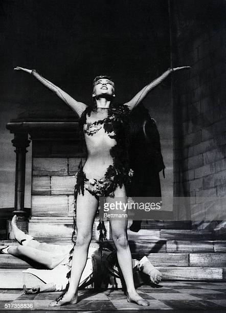 2/21/54New York New York Audrey Hepburn in the title role of the nymph Ondine now breaking theatre records on Broadway stands over the still form of...