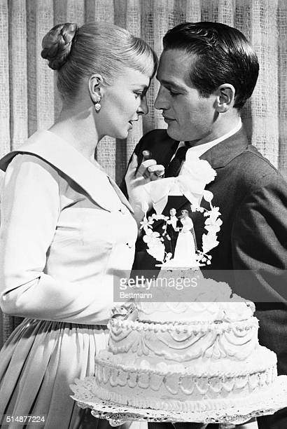 2/2/1958Las Vegas NV Hollywood stars Joanne Woodward and Paul Newman are a cozy twosome following their marriage The couple have been courting for a...