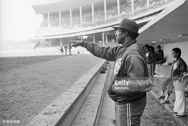 Frank Robinson manager of the Cleveland Indians