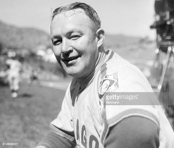 2/27/1939Santa Catalina Island CA Gabby Hartnett veteran player and manager of the Chicago Cubs is shown during an early spring training workout at...