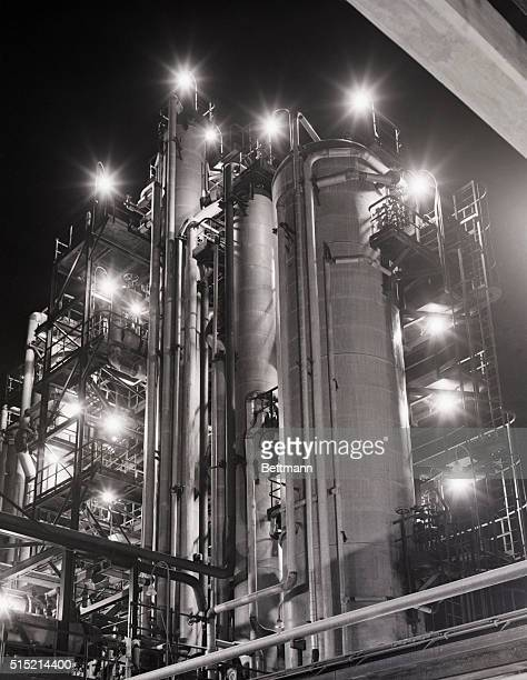2/27/1950Beaumont TX Officially opened on February 25th the phenol unit of the Pure Oil Company's new lubricant refinery at Beaumont makes a pretty...