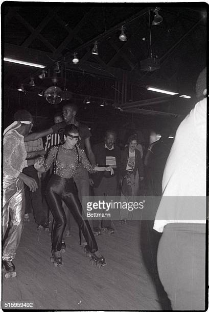 2/27/1979New York New York Staying out late on roller skates Cher hosts a roller disco party for 2000 guests in the music biz who crowded into the...