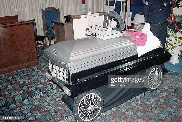 2/28/1984Chicago Illinois At the request of his family the late Willie M Stokes Jr goes in style as he is propped up in his coffin made up to...