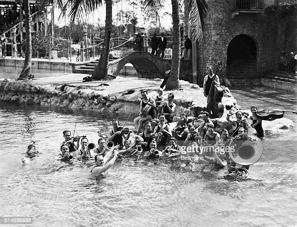 2/28/26Coral Gables Florida In the beautiful Venetian Pool at Coral Gables Fla Paul Whiteman's celebrated jazz orchestra is shown here rendering that...