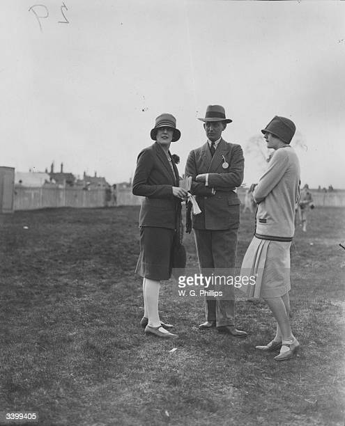 Miss St George her brother Mr St George and the Hon Adele Biddulph at Ludlow steeplechases
