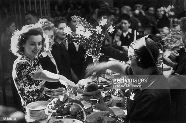 A buffet in the dancehall at the Covent Garden Royal Opera House Original Publication Picture Post 1680 Wartime Dance Hall pub 1944