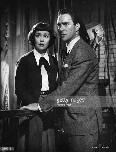 US actress Jane Wyman stars with British actor Richard Todd in the film 'Stage Fright' directed by Alfred Hitchcock Original Publication Picture Post...