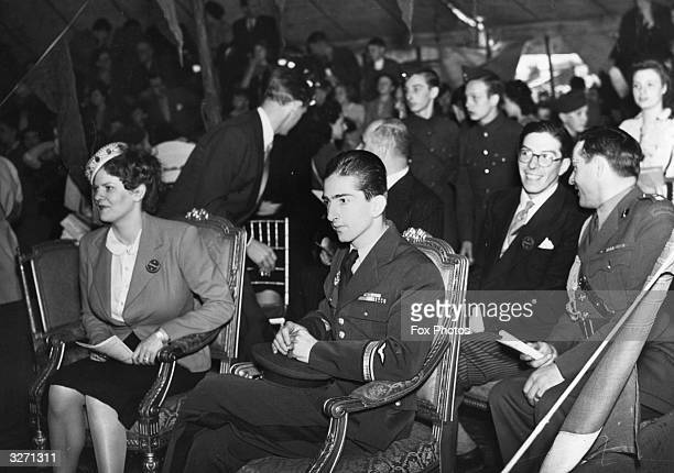 HSH Princess Romanovsky Pavlovsky and King Peter of Yugoslavia attend a circus held on Hampstead Heath London C B Cochrane presented Rosaries Circus...