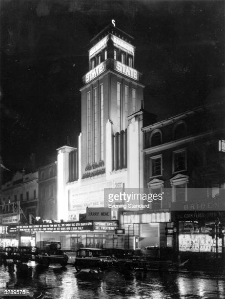 The billing for the opening of the Gaumont State cinema in Kilburn reads 'The World's Greatest Theatre'