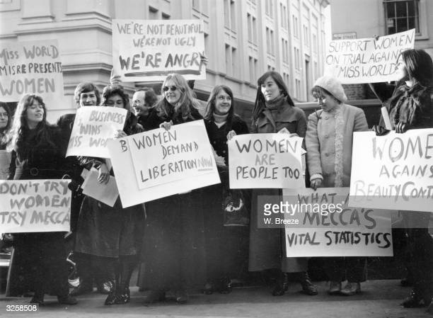 The Women's Liberation movement protesting against the Mecca Organisation's Miss World Contest.