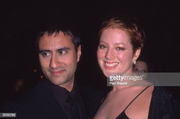 Headshot of Canadian singer Sarah McLachlan and her husband drummer Ashwin Sood at the Arista Records preGrammy party held at the Beverly Hills Hotel...